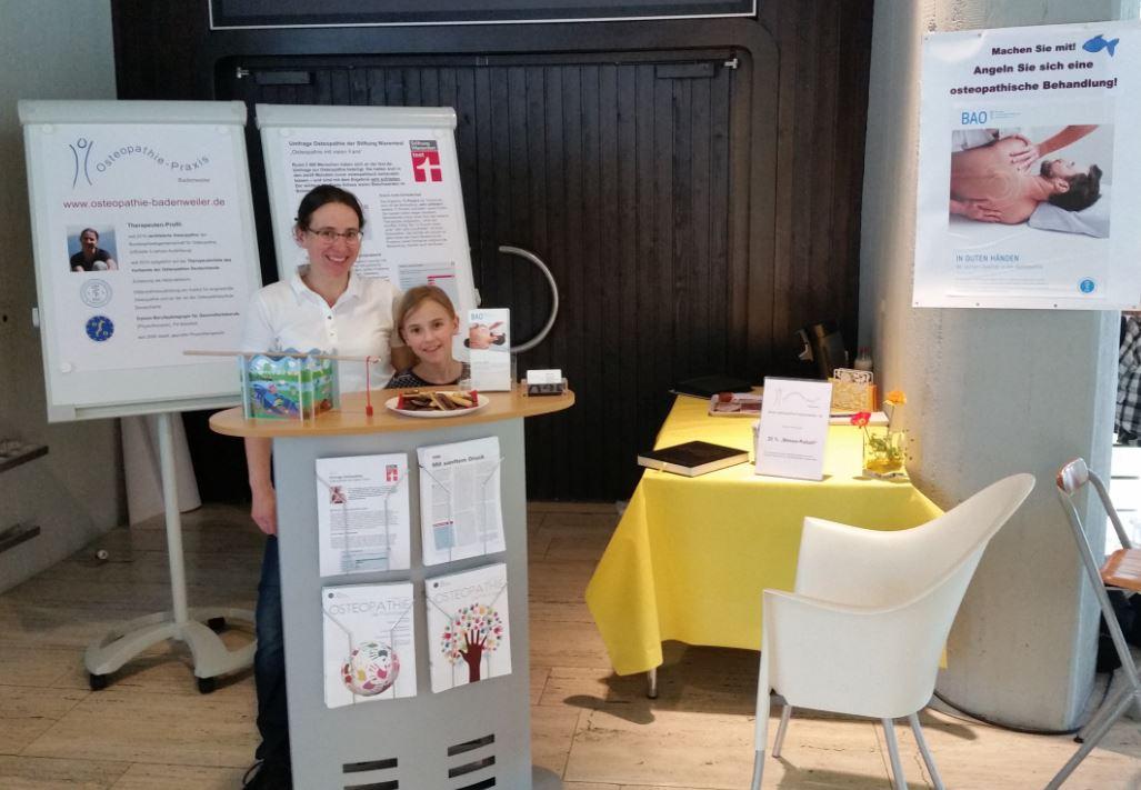 Osteopathie-Stand Badenweiler Gesundheitstage 2016